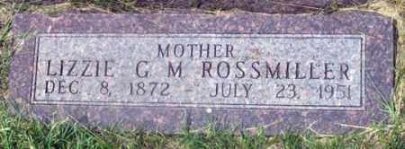 ROSSMILLER, LIZZIE G. M. - Dundy County, Nebraska | LIZZIE G. M. ROSSMILLER - Nebraska Gravestone Photos