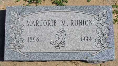 RUNION, MARJORIE M. - Dundy County, Nebraska | MARJORIE M. RUNION - Nebraska Gravestone Photos