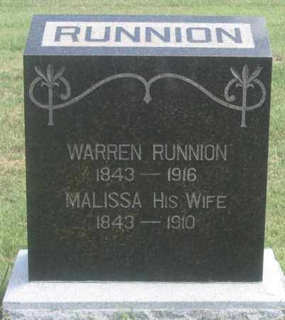 RUNNION, WARREN - Dundy County, Nebraska | WARREN RUNNION - Nebraska Gravestone Photos