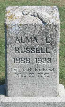 RUSSELL, ALMA L. - Dundy County, Nebraska   ALMA L. RUSSELL - Nebraska Gravestone Photos