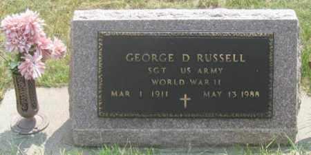 RUSSELL, GEORGE DELBERT - Dundy County, Nebraska | GEORGE DELBERT RUSSELL - Nebraska Gravestone Photos