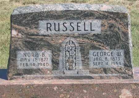RUSSELL, GEORGE W. - Dundy County, Nebraska | GEORGE W. RUSSELL - Nebraska Gravestone Photos