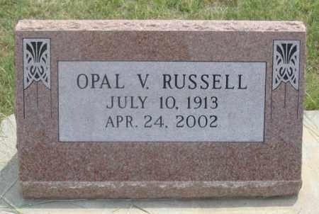 RUSSELL, OPAL V. - Dundy County, Nebraska | OPAL V. RUSSELL - Nebraska Gravestone Photos