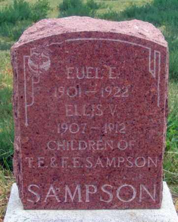 SAMPSON, ELLIS V. (SON) - Dundy County, Nebraska | ELLIS V. (SON) SAMPSON - Nebraska Gravestone Photos