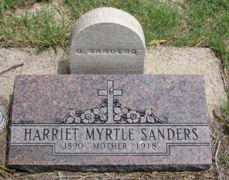 RUNYON SANDERS, HARRIET MYRTLE - Dundy County, Nebraska | HARRIET MYRTLE RUNYON SANDERS - Nebraska Gravestone Photos