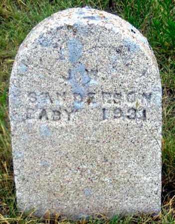 SANDERSON, J. (JEAN?) BABY - Dundy County, Nebraska   J. (JEAN?) BABY SANDERSON - Nebraska Gravestone Photos