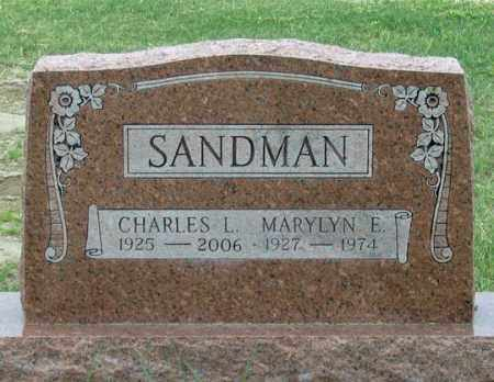 BEHLKE SANDMAN, MARYLYN E. - Dundy County, Nebraska | MARYLYN E. BEHLKE SANDMAN - Nebraska Gravestone Photos