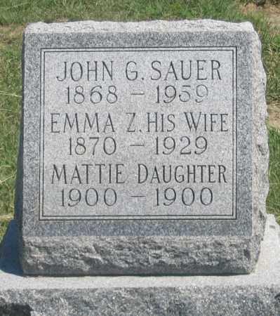 SAUER, EMMA Z. - Dundy County, Nebraska | EMMA Z. SAUER - Nebraska Gravestone Photos
