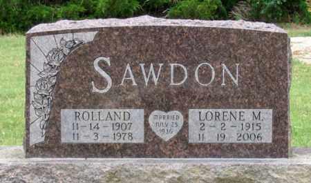 SAWDON, ROLLAND - Dundy County, Nebraska | ROLLAND SAWDON - Nebraska Gravestone Photos