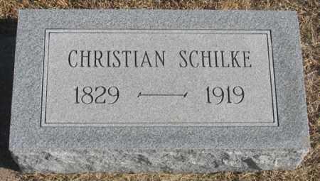 SCHILKE, CHRISTIAN - Dundy County, Nebraska | CHRISTIAN SCHILKE - Nebraska Gravestone Photos