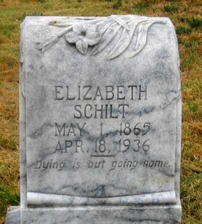 SCHILT, ELIZABETH - Dundy County, Nebraska | ELIZABETH SCHILT - Nebraska Gravestone Photos