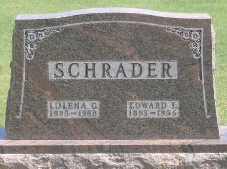 SCHRADER, EDWARD L. - Dundy County, Nebraska | EDWARD L. SCHRADER - Nebraska Gravestone Photos