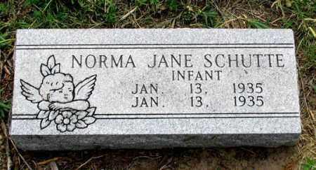 SCHUTTE, NORMA JANE - Dundy County, Nebraska | NORMA JANE SCHUTTE - Nebraska Gravestone Photos