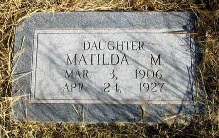 SCHWENK, MATILDA M. - Dundy County, Nebraska | MATILDA M. SCHWENK - Nebraska Gravestone Photos