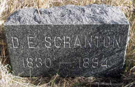 SCRANTON, D. E. - Dundy County, Nebraska   D. E. SCRANTON - Nebraska Gravestone Photos