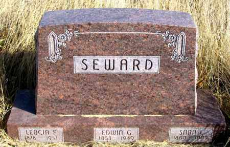 SEWARD, LEOCIA F. - Dundy County, Nebraska   LEOCIA F. SEWARD - Nebraska Gravestone Photos