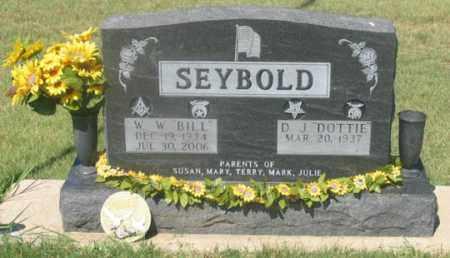 WISDOM SEYBOLD, D. J. DOTTIE - Dundy County, Nebraska   D. J. DOTTIE WISDOM SEYBOLD - Nebraska Gravestone Photos