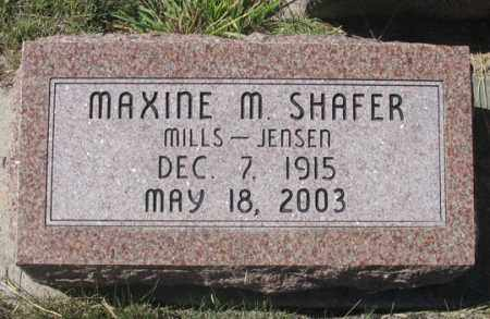 MILLS SHAFER, MAXINE M. - Dundy County, Nebraska | MAXINE M. MILLS SHAFER - Nebraska Gravestone Photos