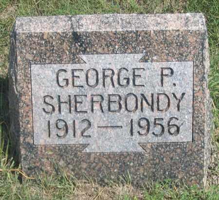 SHERBONDY, GEORGE P. - Dundy County, Nebraska | GEORGE P. SHERBONDY - Nebraska Gravestone Photos