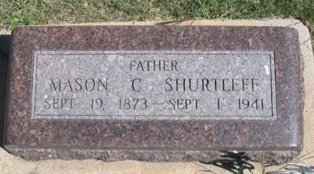 SHURTLEFF, MASON C. - Dundy County, Nebraska | MASON C. SHURTLEFF - Nebraska Gravestone Photos
