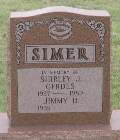 SIMER, JIMMY D. - Dundy County, Nebraska | JIMMY D. SIMER - Nebraska Gravestone Photos
