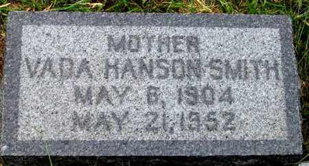 SMITH, VADA HANSON - Dundy County, Nebraska   VADA HANSON SMITH - Nebraska Gravestone Photos