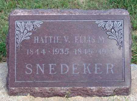 SNEDEKER, HATTIE V. - Dundy County, Nebraska | HATTIE V. SNEDEKER - Nebraska Gravestone Photos