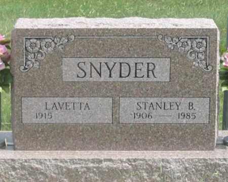 SNYDER, STANLEY B. - Dundy County, Nebraska | STANLEY B. SNYDER - Nebraska Gravestone Photos
