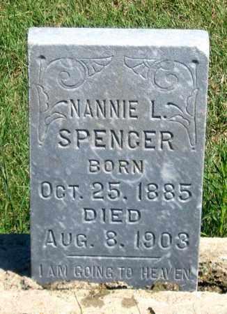 SPENCER, NANNIE L. - Dundy County, Nebraska | NANNIE L. SPENCER - Nebraska Gravestone Photos
