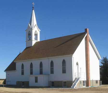 *ST. PAUL CHURCH, REAR VIEW - Dundy County, Nebraska | REAR VIEW *ST. PAUL CHURCH - Nebraska Gravestone Photos