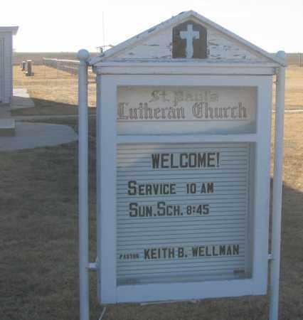 *ST. PAUL CHURCH, SIGN - Dundy County, Nebraska | SIGN *ST. PAUL CHURCH - Nebraska Gravestone Photos