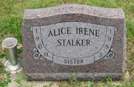 WALLER STALKER, ALICE IRENE - Dundy County, Nebraska   ALICE IRENE WALLER STALKER - Nebraska Gravestone Photos