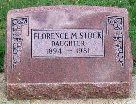 STOCK, FLORENCE M. - Dundy County, Nebraska | FLORENCE M. STOCK - Nebraska Gravestone Photos