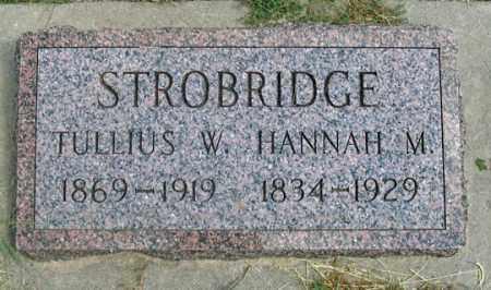 STROBRIDGE, HANNAH M. - Dundy County, Nebraska | HANNAH M. STROBRIDGE - Nebraska Gravestone Photos