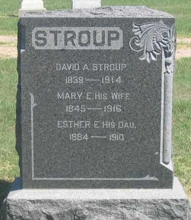 STROUP, MARY E. - Dundy County, Nebraska | MARY E. STROUP - Nebraska Gravestone Photos
