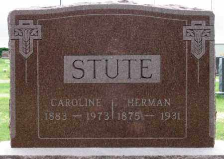 STUTE, CAROLINE - Dundy County, Nebraska | CAROLINE STUTE - Nebraska Gravestone Photos