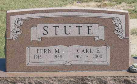 STUTE, CARL E. - Dundy County, Nebraska | CARL E. STUTE - Nebraska Gravestone Photos