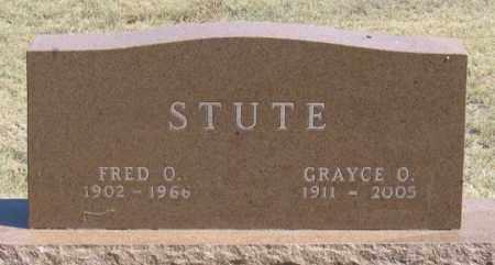 STUTE, GRACE O. - Dundy County, Nebraska   GRACE O. STUTE - Nebraska Gravestone Photos