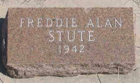 STUTE, FREDDIE ALAN - Dundy County, Nebraska   FREDDIE ALAN STUTE - Nebraska Gravestone Photos