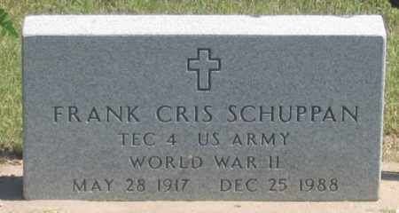 SUPPAN, FRANK CRIS - Dundy County, Nebraska | FRANK CRIS SUPPAN - Nebraska Gravestone Photos