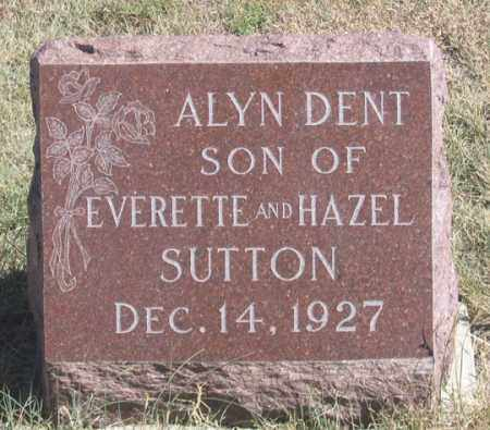 SUTTON, ALYN DENT - Dundy County, Nebraska | ALYN DENT SUTTON - Nebraska Gravestone Photos