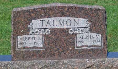 TALMON, ALBERT J. - Dundy County, Nebraska | ALBERT J. TALMON - Nebraska Gravestone Photos