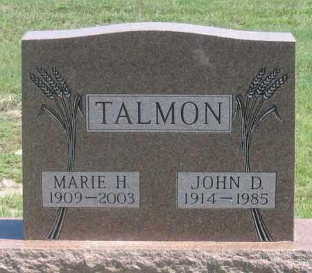 TALMON, MARIE H. - Dundy County, Nebraska | MARIE H. TALMON - Nebraska Gravestone Photos
