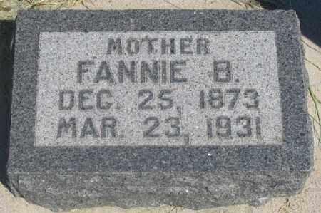 BYERLY TECKER, FANNIE B. - Dundy County, Nebraska | FANNIE B. BYERLY TECKER - Nebraska Gravestone Photos