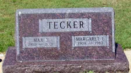 TECKER, MAX E. - Dundy County, Nebraska | MAX E. TECKER - Nebraska Gravestone Photos