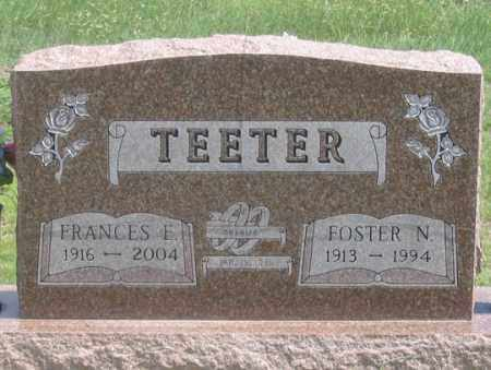 LOUCH TEETER, FRANCES E. - Dundy County, Nebraska | FRANCES E. LOUCH TEETER - Nebraska Gravestone Photos