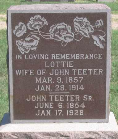 TEETER, JOHN SR. - Dundy County, Nebraska | JOHN SR. TEETER - Nebraska Gravestone Photos