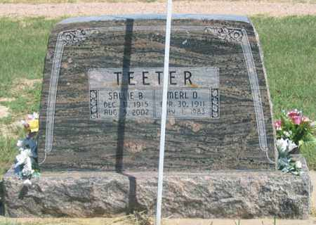 ELLIS TEETER, SALLIE B. - Dundy County, Nebraska   SALLIE B. ELLIS TEETER - Nebraska Gravestone Photos