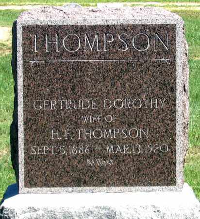 THOMPSON, GERTRUDE DOROTHY - Dundy County, Nebraska | GERTRUDE DOROTHY THOMPSON - Nebraska Gravestone Photos