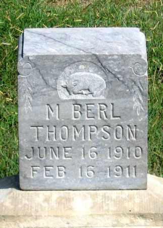 THOMPSON, M. BERL - Dundy County, Nebraska | M. BERL THOMPSON - Nebraska Gravestone Photos